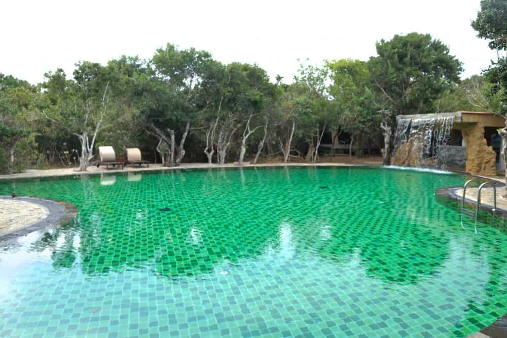 the main swimming pool at Chena Huts by Uga Escapes