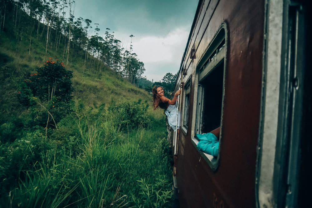 the iconic Sri Lanka train from Ella to Kandy