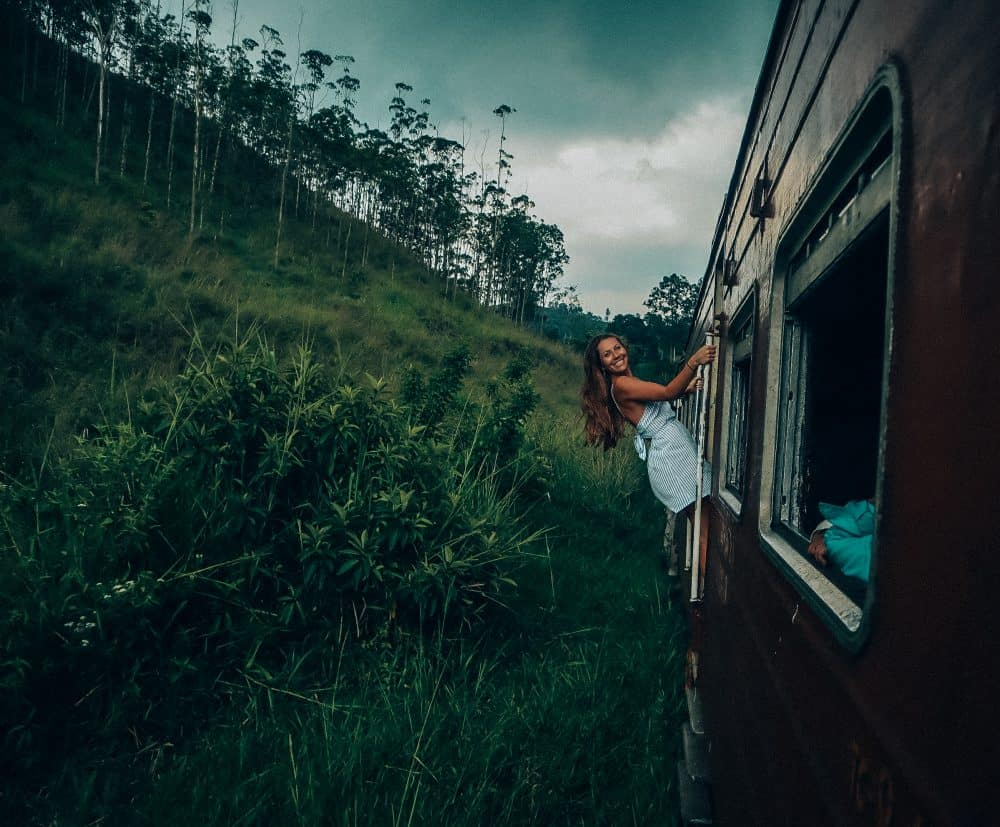 riding the train from kandy to ella