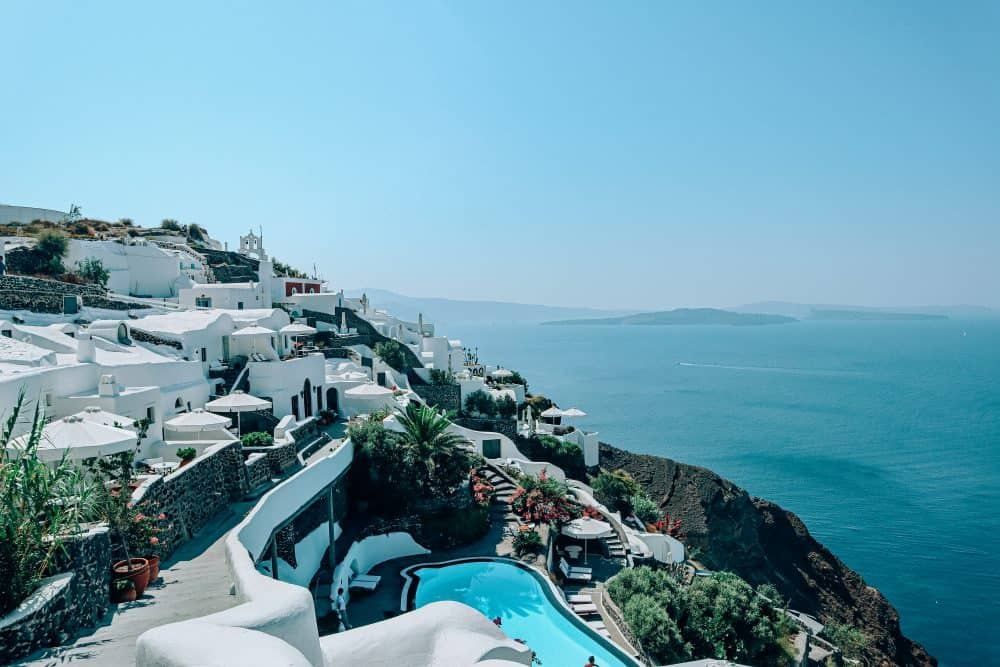 accommodation with a pool in Oia, Santorini