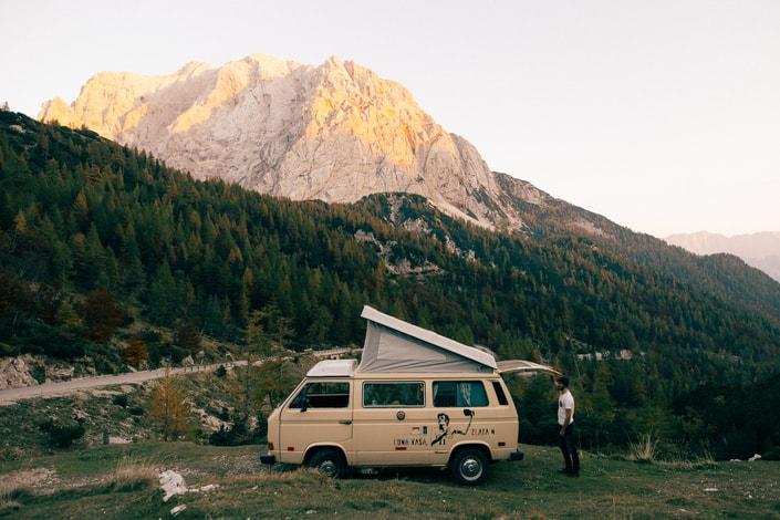 exploring Croatia and Slovenia in a retro campervan