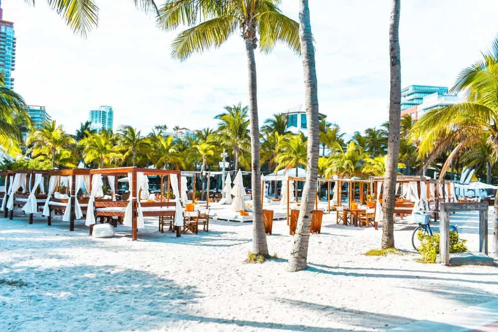 Daybeds at Nikki Beach, Miami