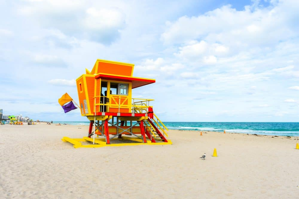 Lifeguard huts on South Beach