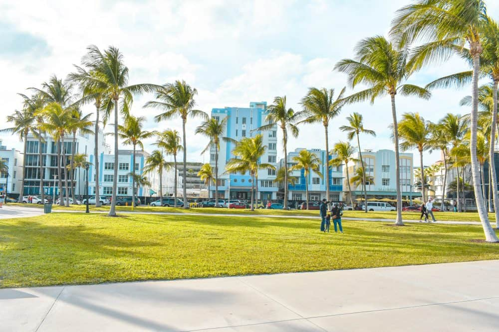 Lummus Park on South Beach