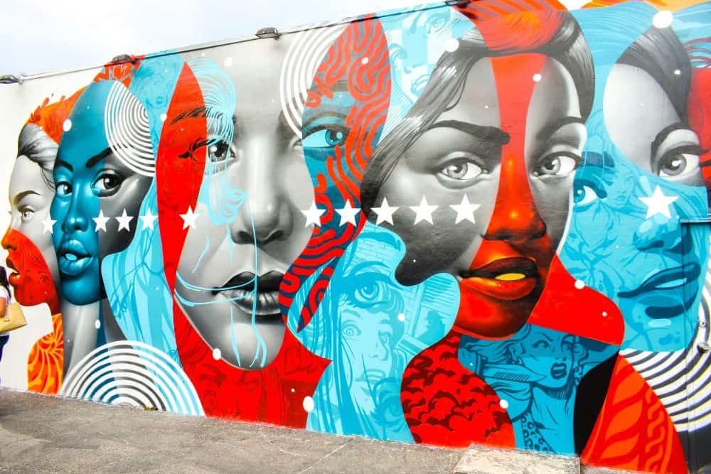 Street art in Wynwood Art District, Miami