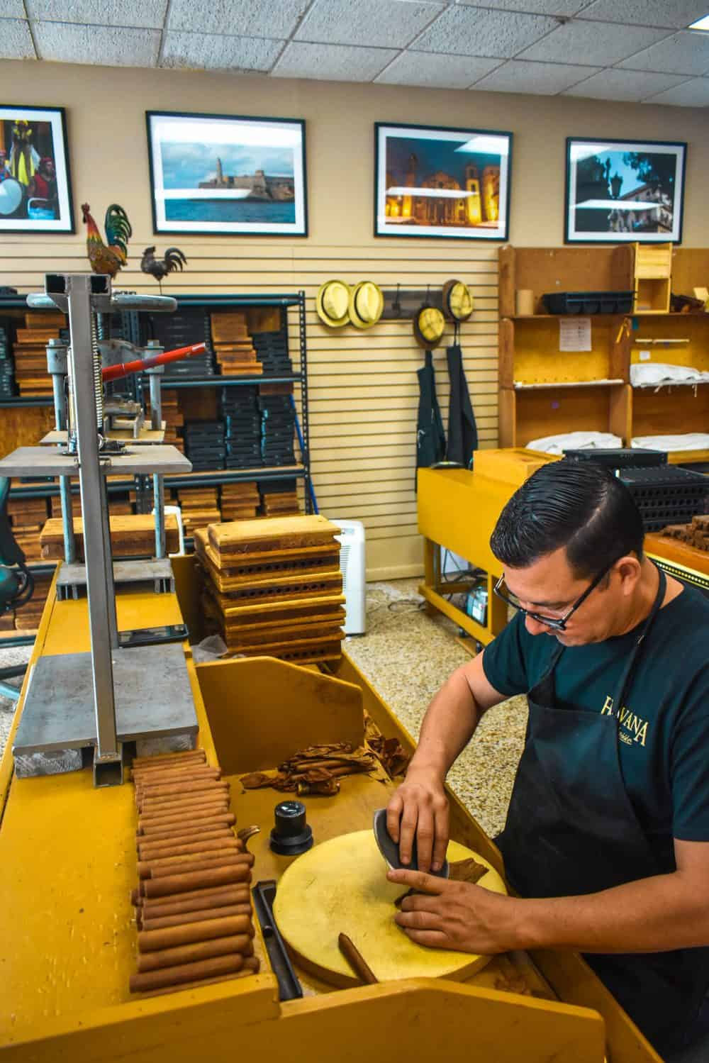 Cigar making in Little Havana