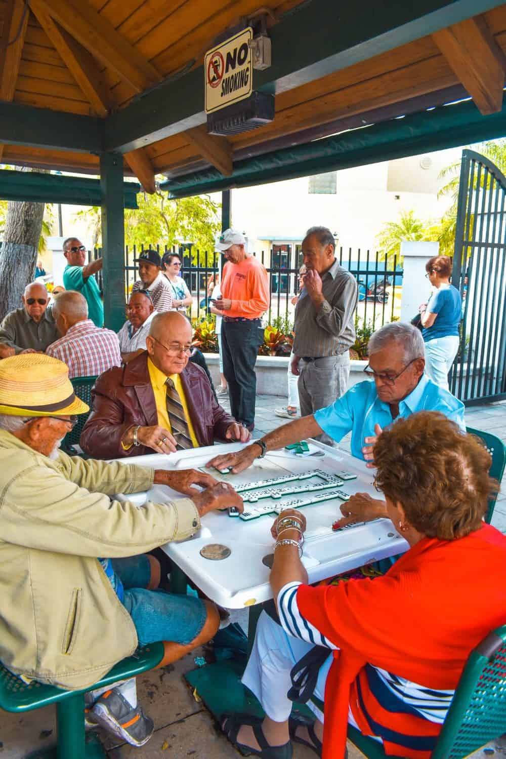 Little Havana locals playing dominoes
