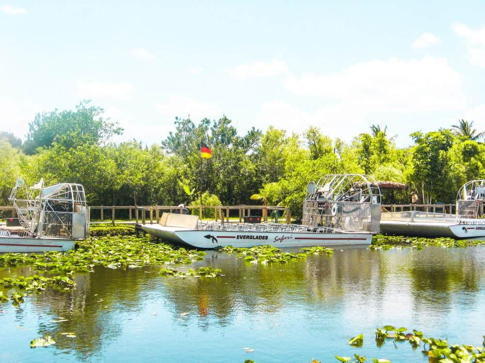 Airboats tours in the Everglades