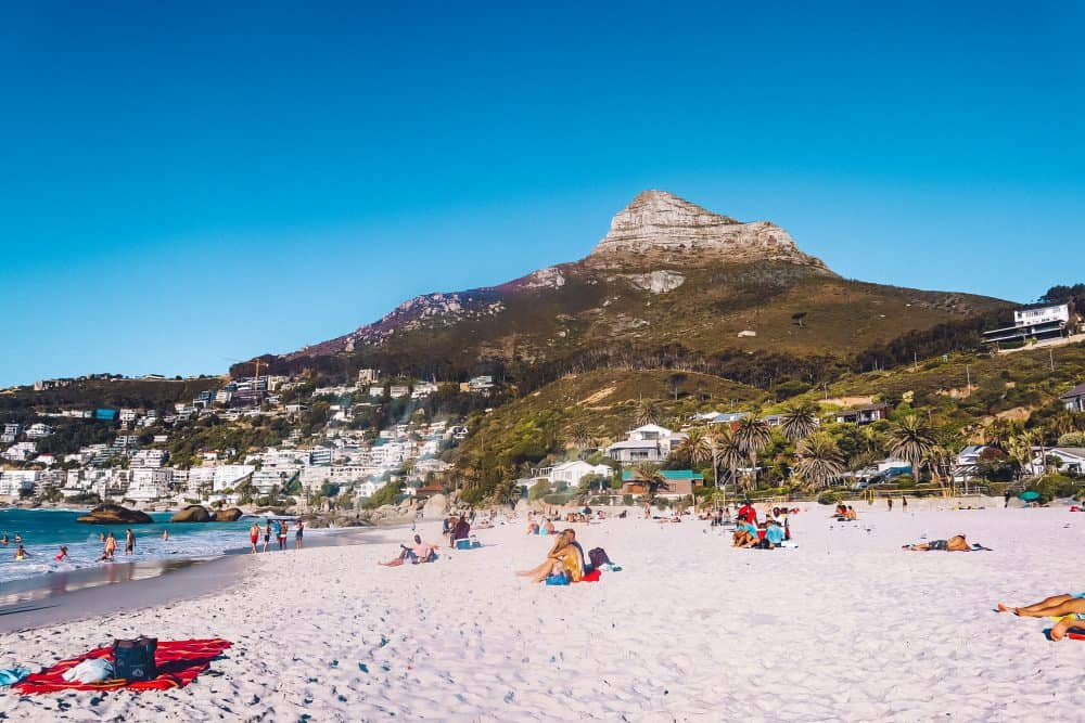 Clifton Beach, the most beautiful beach in Cape Town, South Africa