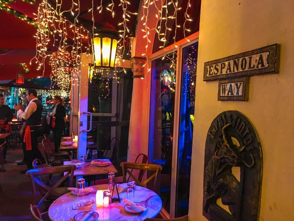 Española Way near South Beach, Miami