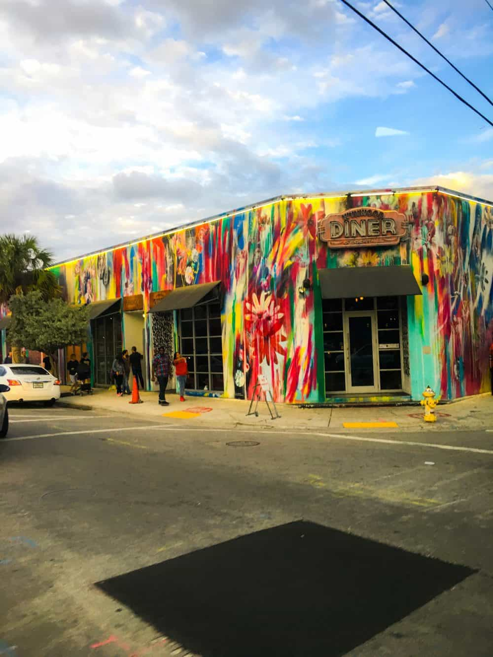 Colourful streets in Wynwood, Miami