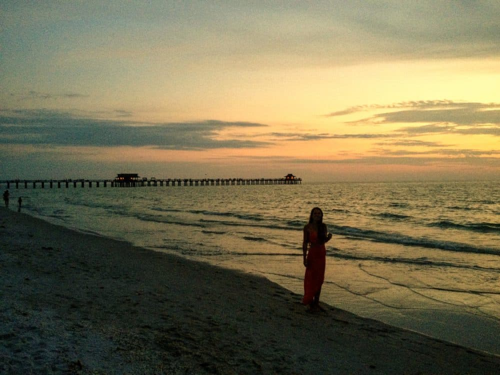 Sunset on the beach in Naples, Florida