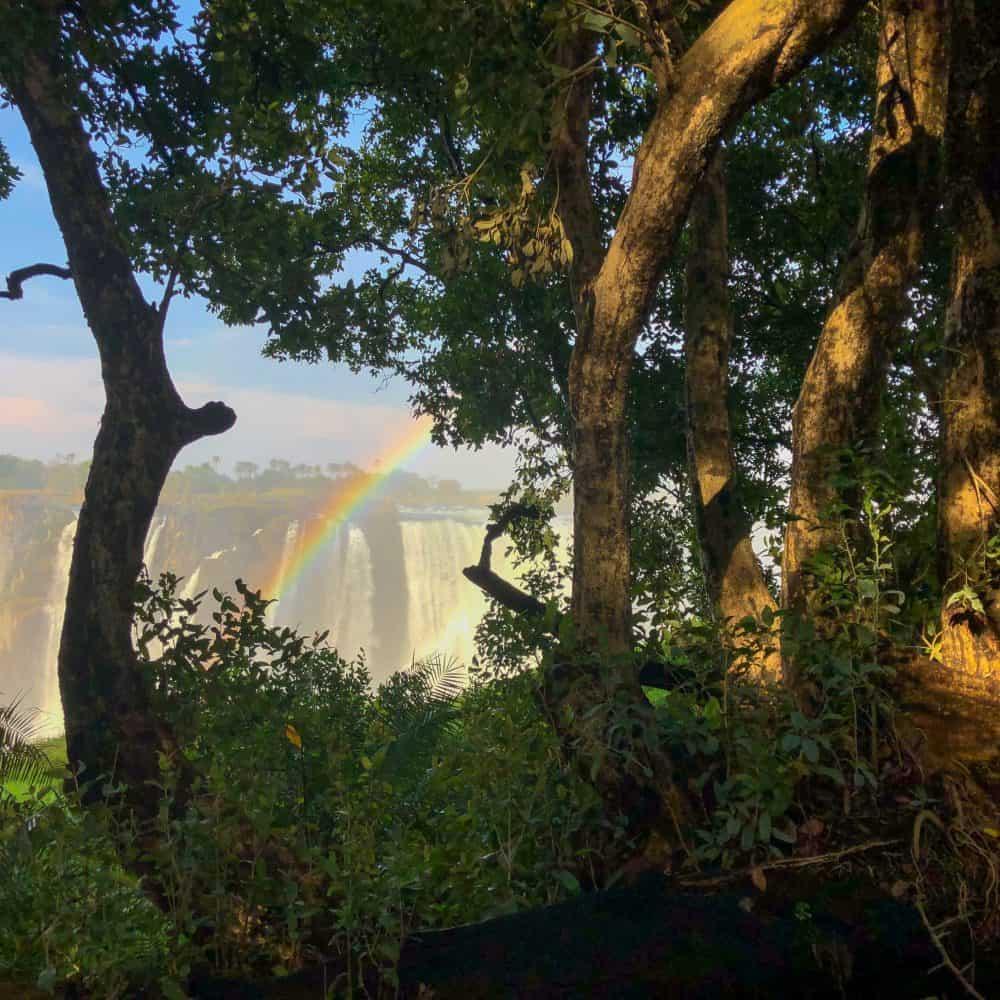 Victoria Falls on the Zimbabwe side