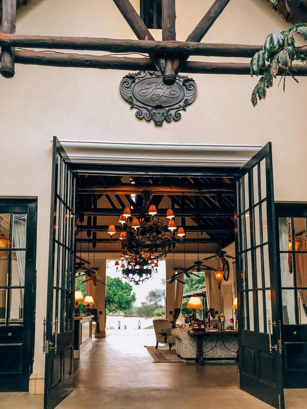 The beautiful Royal Livingstone Hotel in Zambia
