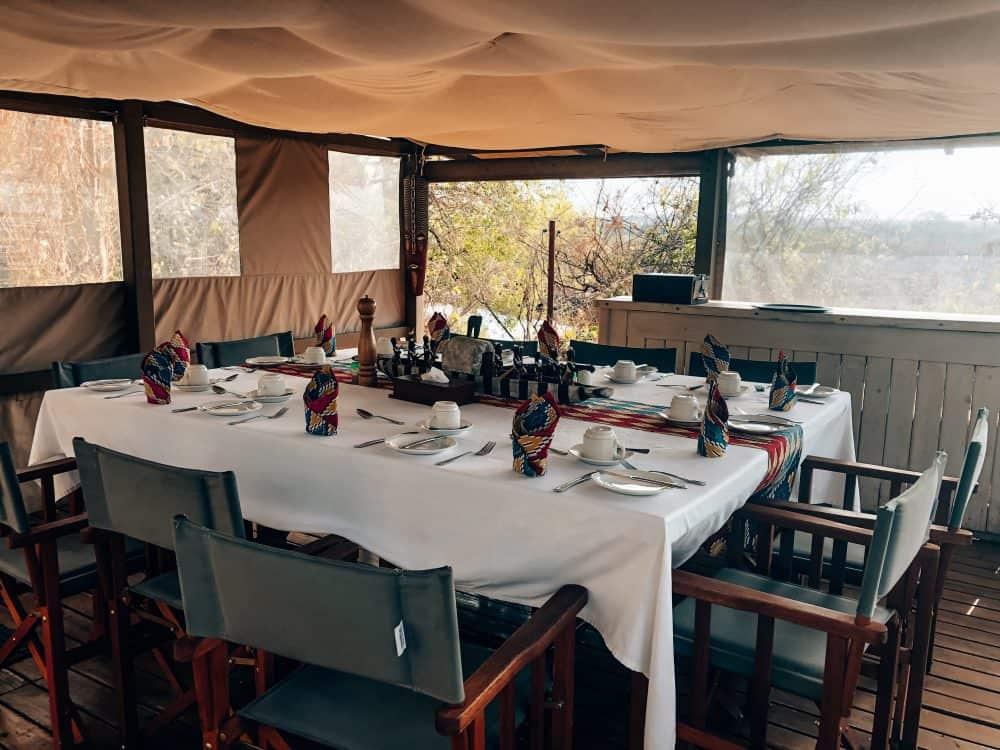 Breakfast at Livingstone Island