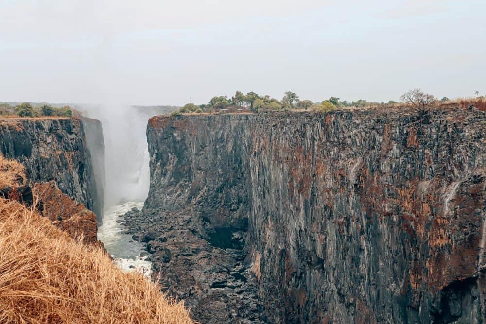 Zambian side of Victoria Falls