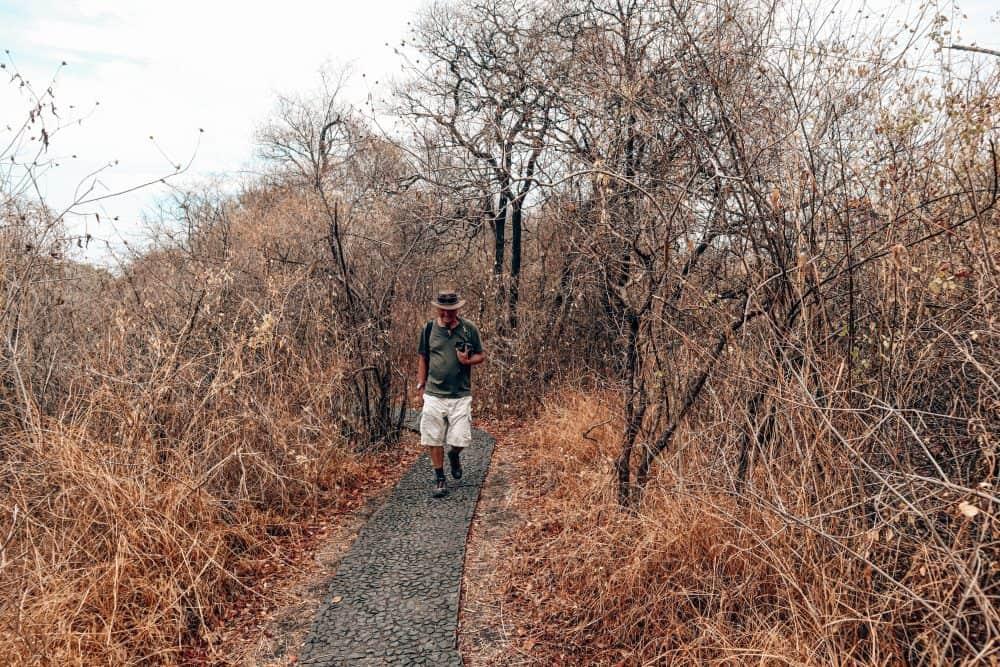 Drought in Zambia at the Victoria Falls