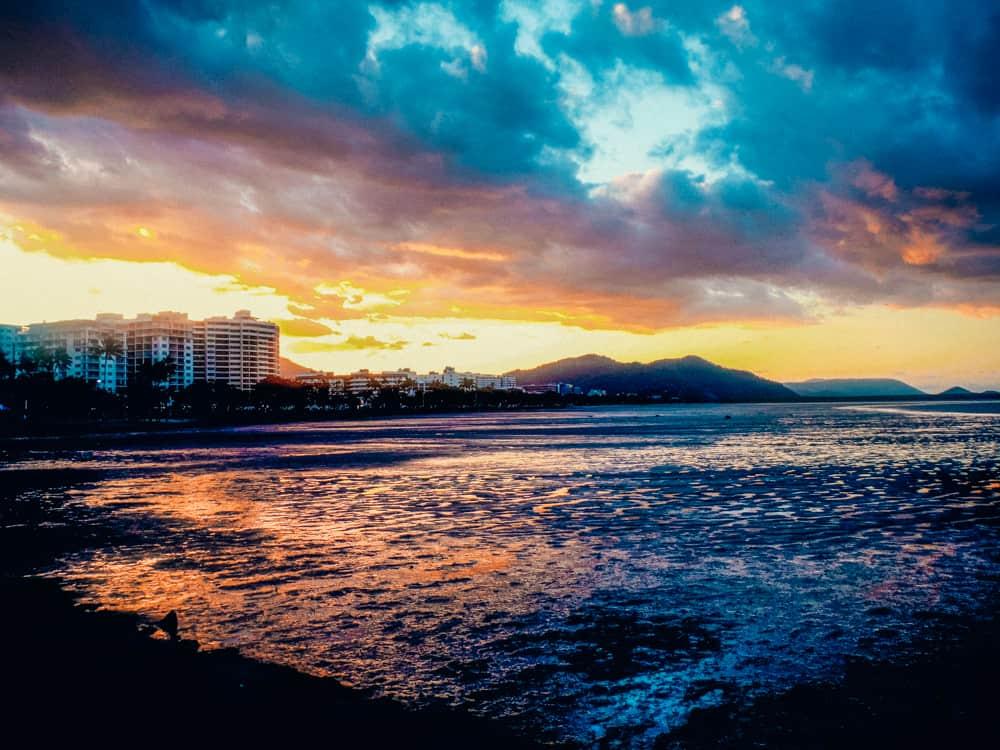 A stunning sunset over Cairns