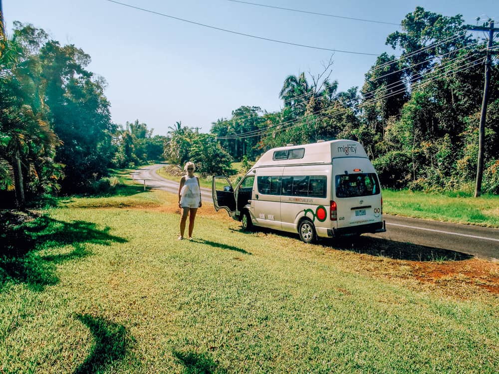 Driving from Cairns to Brisbane in a camper van on an Australia East Coast Road Trip Itinerary