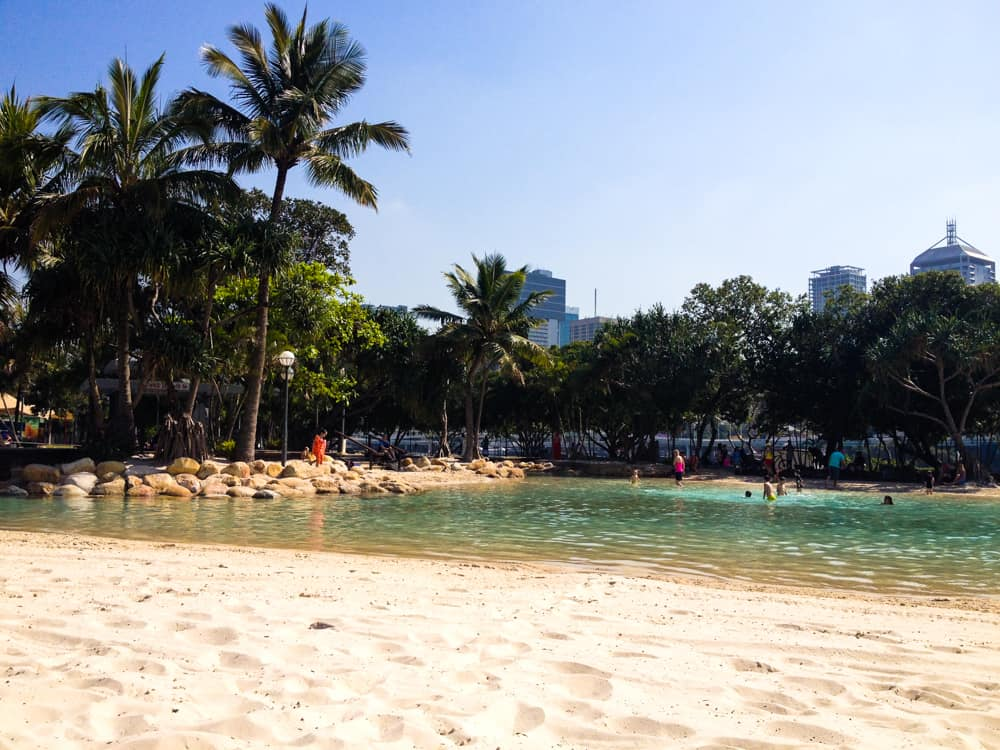 The city beach in Brisbane's South Bank