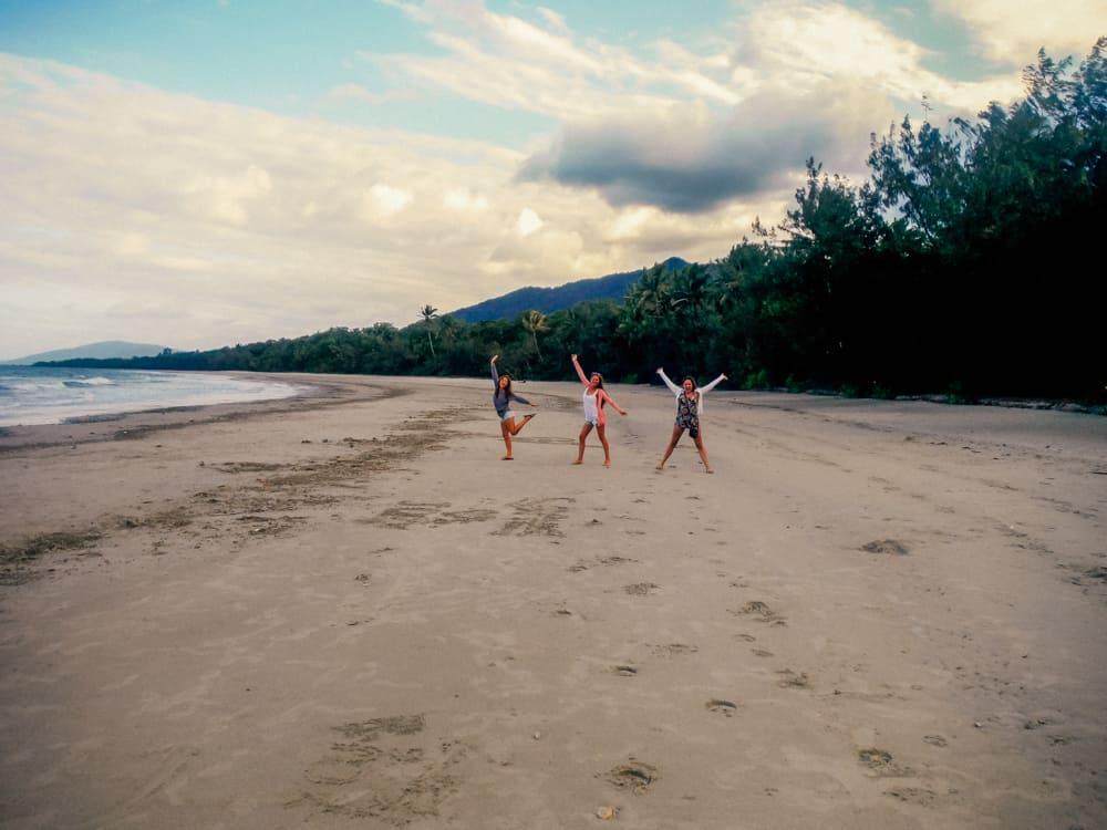 Beaches in Cape Tribulation on an Australia East Coast road trip itinerary