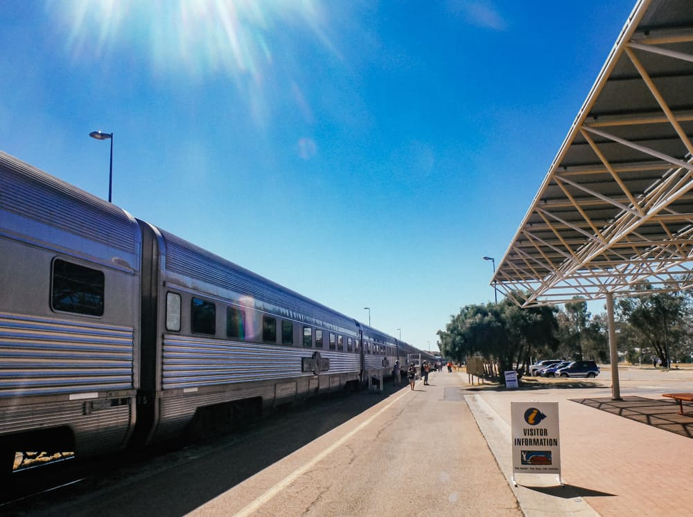 Travelling on the Ghan train through the Australian Outback