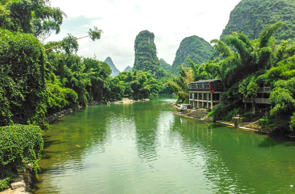 Exploring the Li River on bike