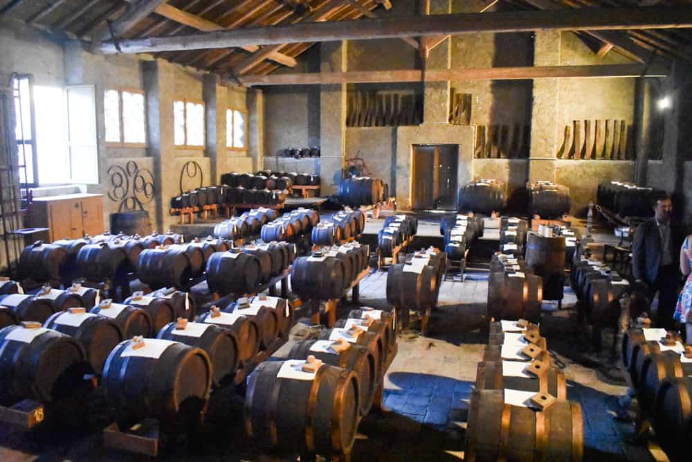 Traditional balsamic vinegar production near Modena
