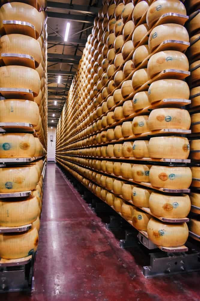Cheese factory near Parma