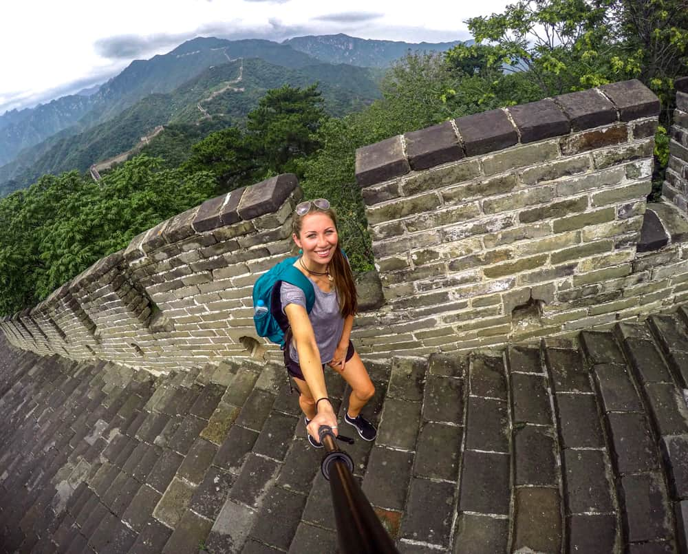 Visiting the Great Wall of China near Beijing