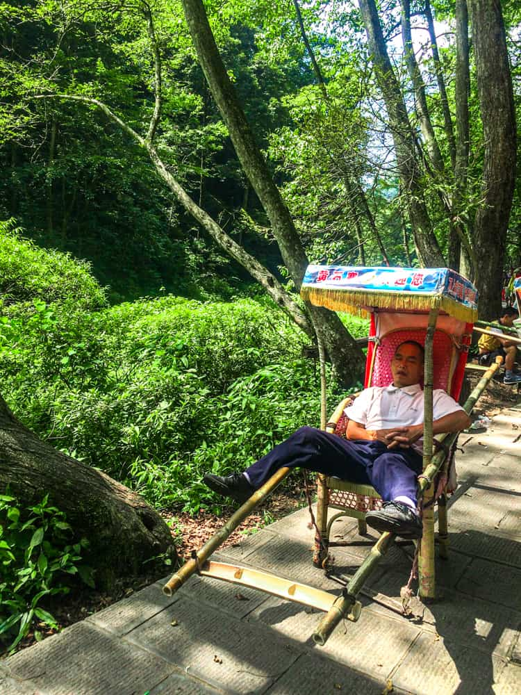 Optional transport around Zhangjiajie National Park