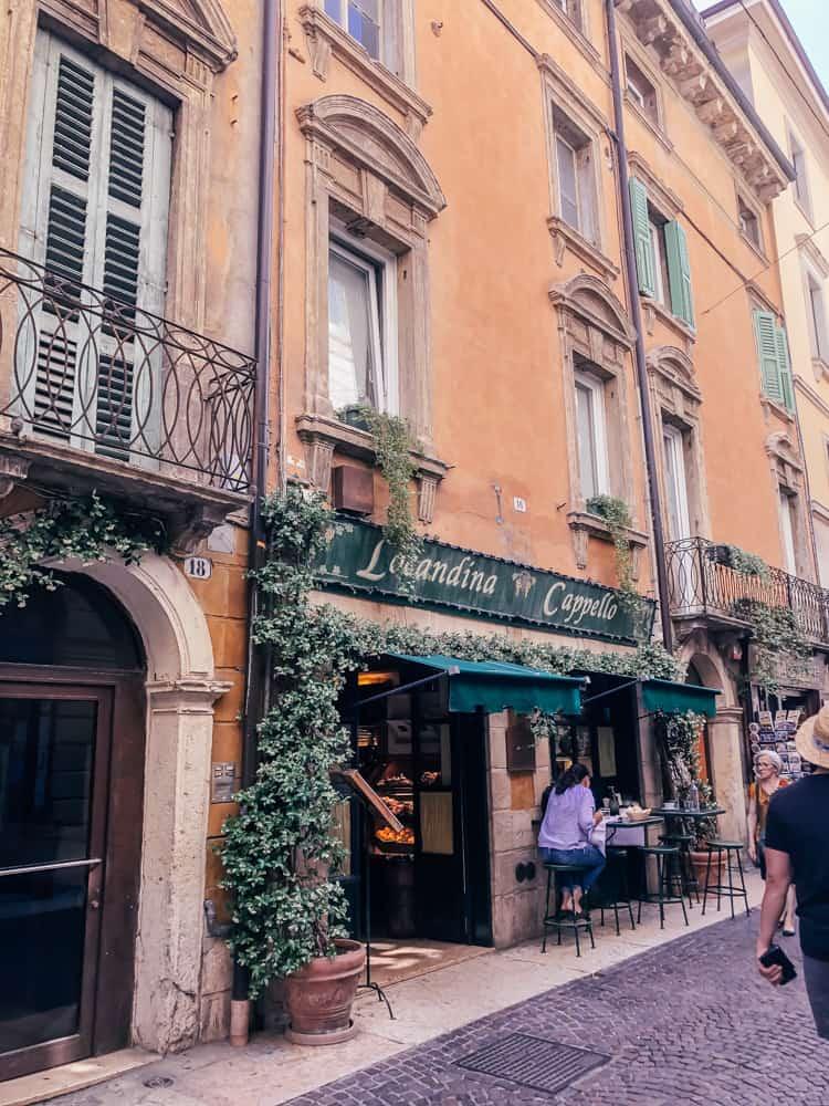 The quaint stores in the Centro Storico, Verona