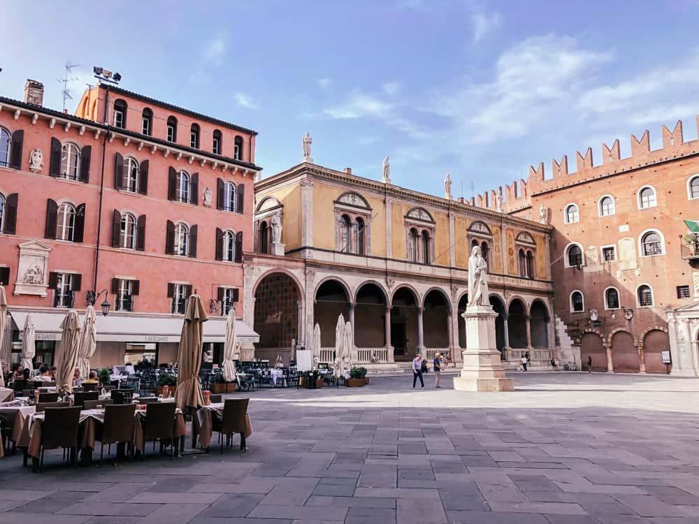 A beautiful piazza in Verona