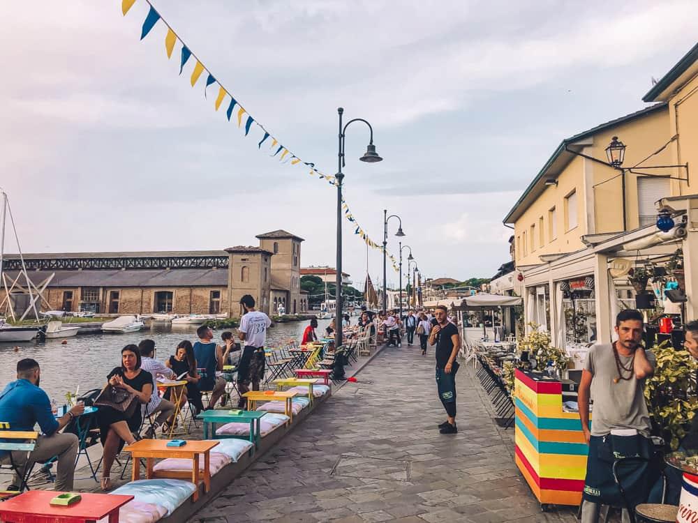 Aperitifs in Cervia port