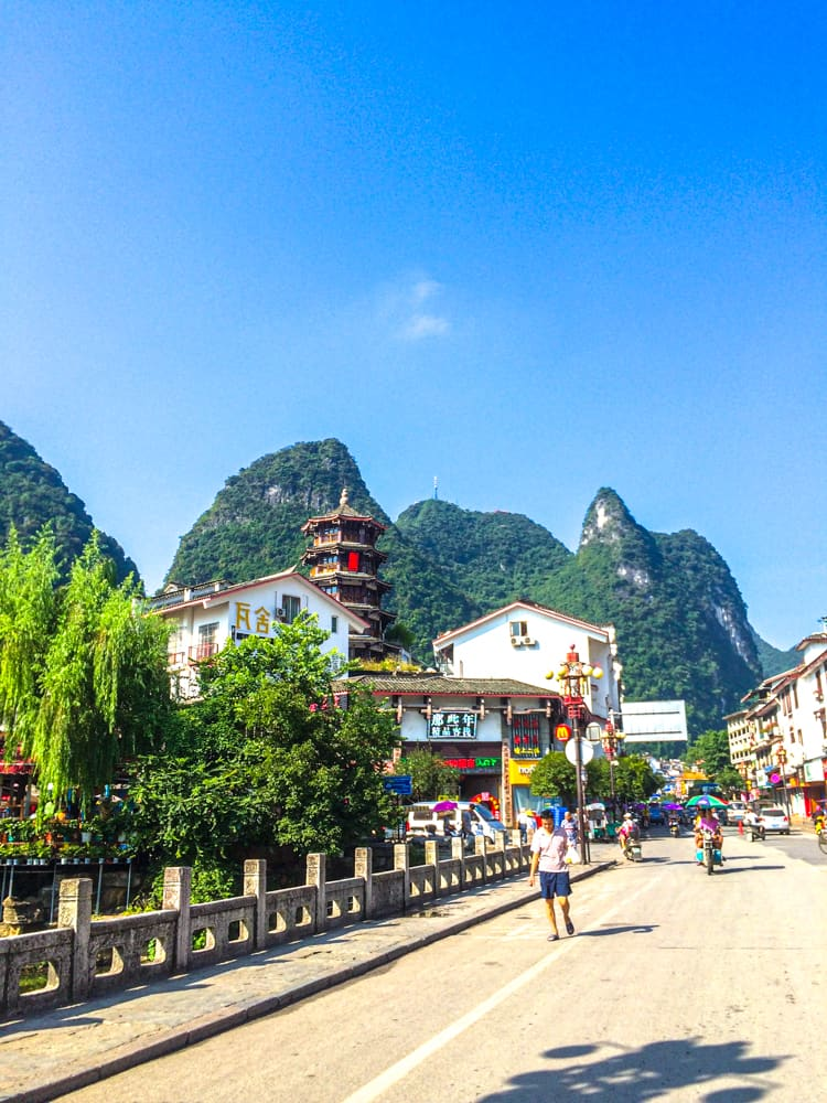 Exploring Yangshuo near Guilin, China