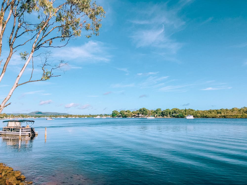 Hiring a boat on the Noosa River