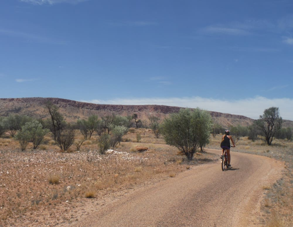 Cycling in the Simpson Desert in the Outback
