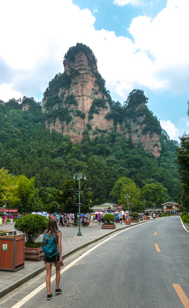 Some of the crowds at Zhangjiajie National Park