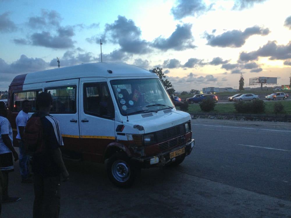 A tro-tro in Ghana