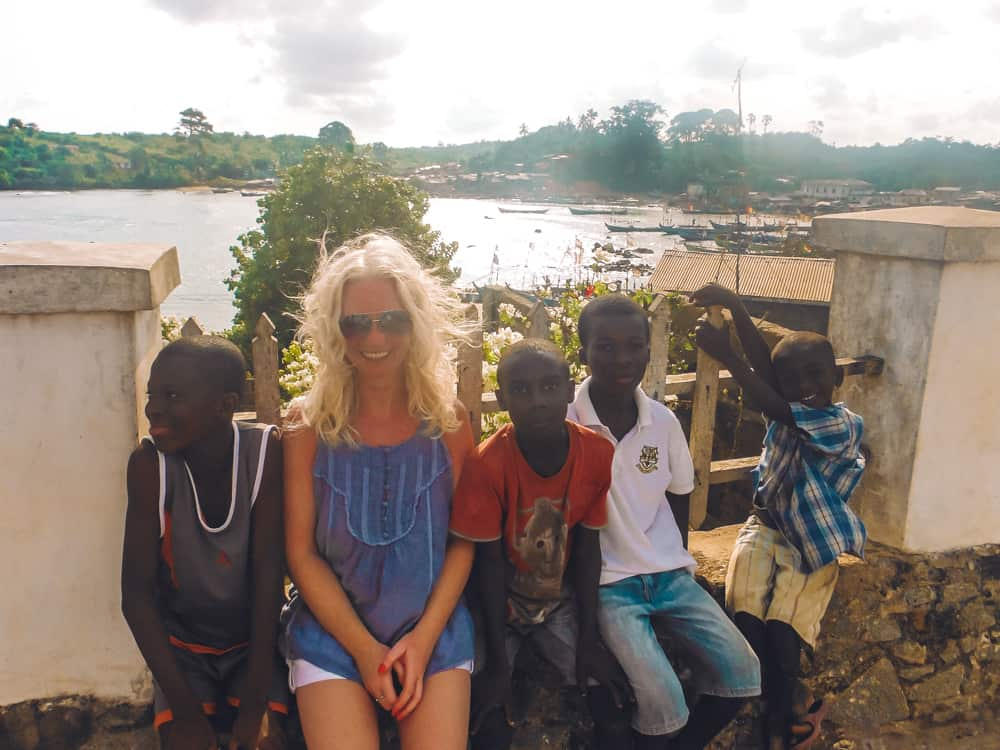 Meeting the locals in Butre village, Ghana