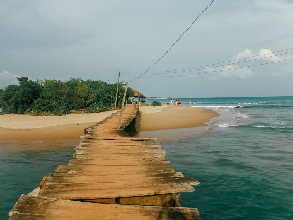 The gorgeous Butre Beach in Western Ghana