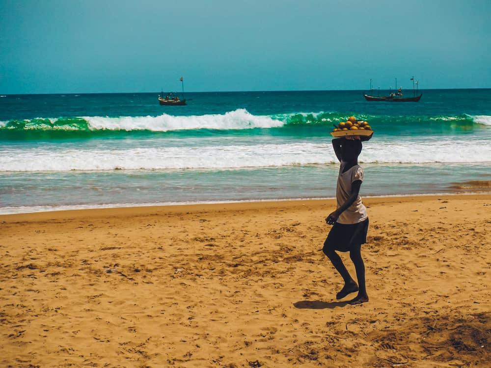 Local life in Busua, Ghana