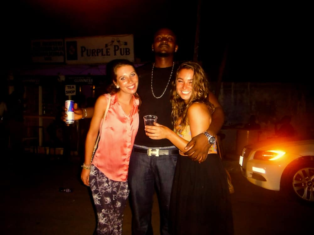 Enjoying nightlife in Accra, Ghana