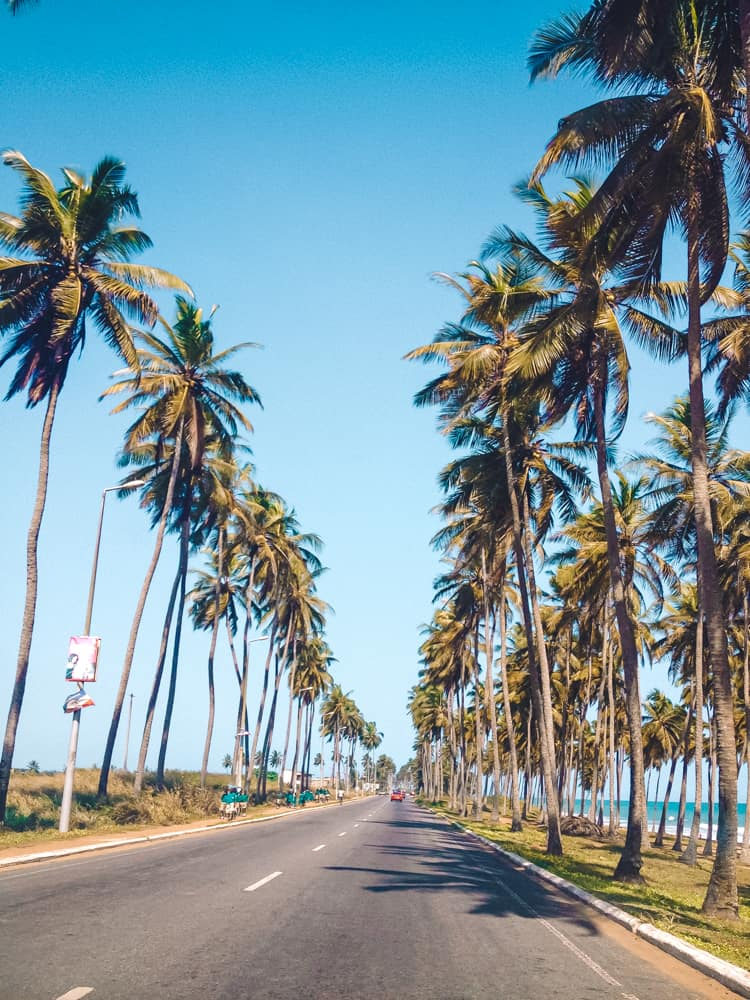 Driving from Cape Coast to Ghana