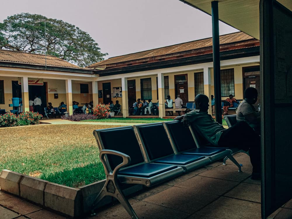 Using the health centre at the University of Ghana in Accra