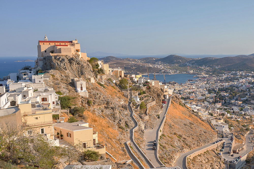 Ana Syros, a Venetian settlement in Syros