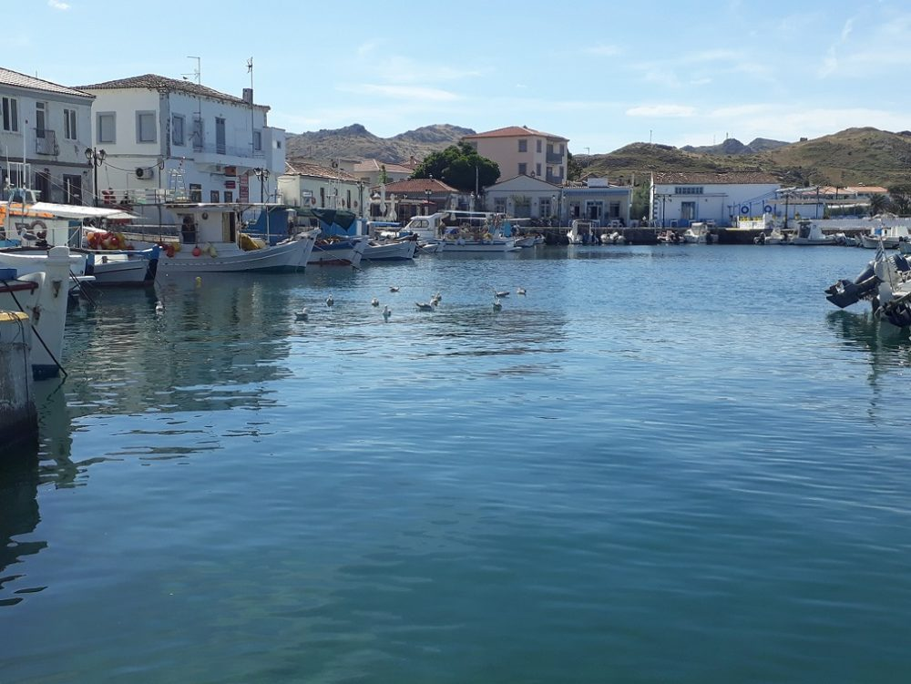 The port of Myrina in Lemnos