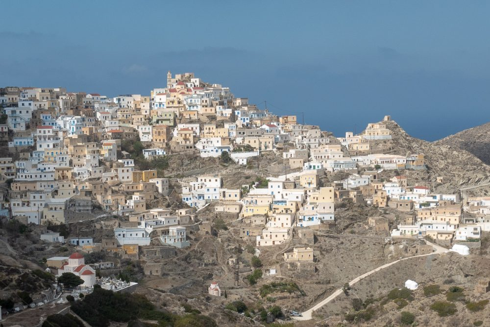 The town of Olympos in Karpathos