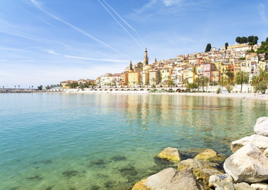 The colourful and charming town of Menton