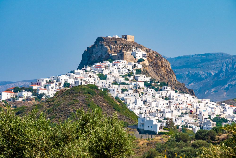 The hilly island of Skyros